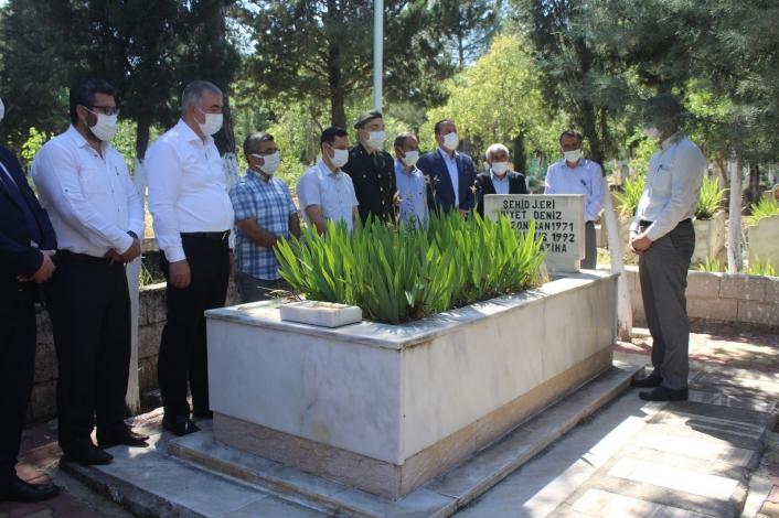 Kahta´da bayram öncesi şehit mezarlarına ziyaret