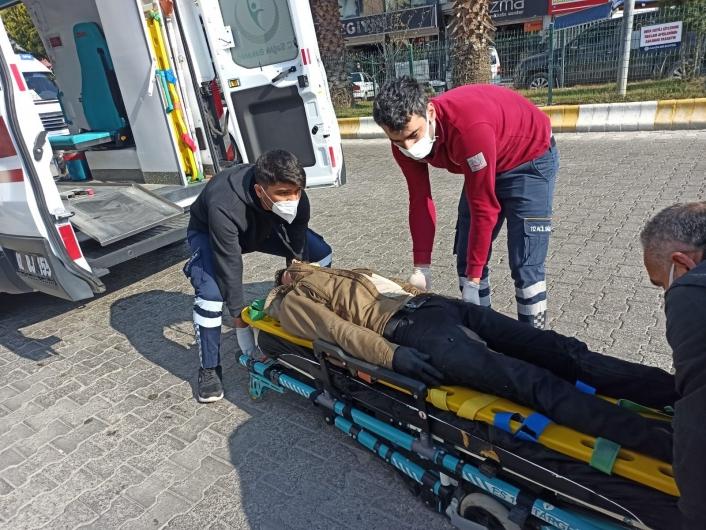 Kahta´da ticari araç ile motosiklet çarpıştı: 1 yaralı