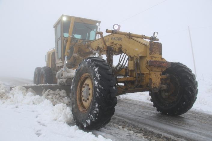 Kar Elazığ´da 14 köy yolunu ulaşıma kapattı