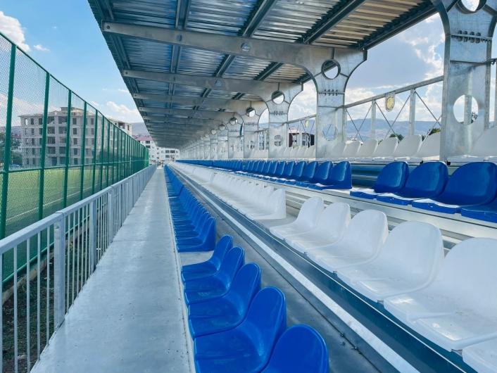 Karakoçan´da yapımı devam eden spor tesislerinde sona gelindi