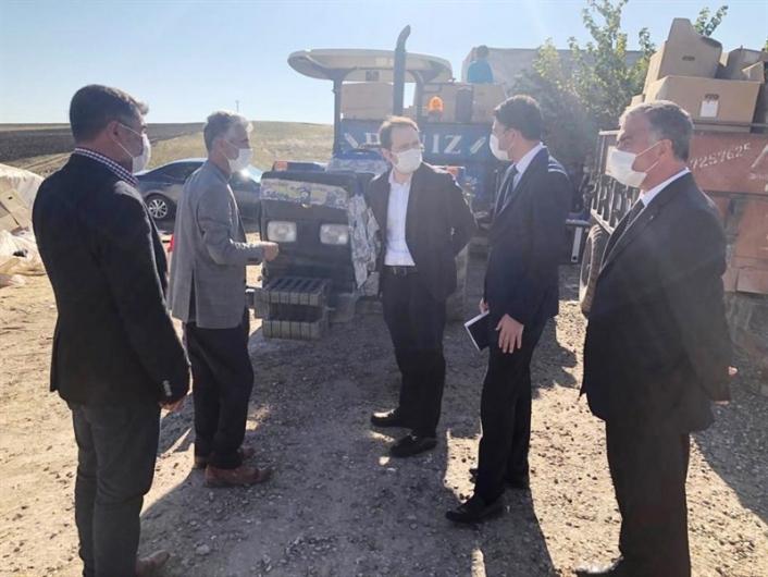 Kaymakam Alemdaroğlu Taşkuyu köyünde incelemelerde bulundu