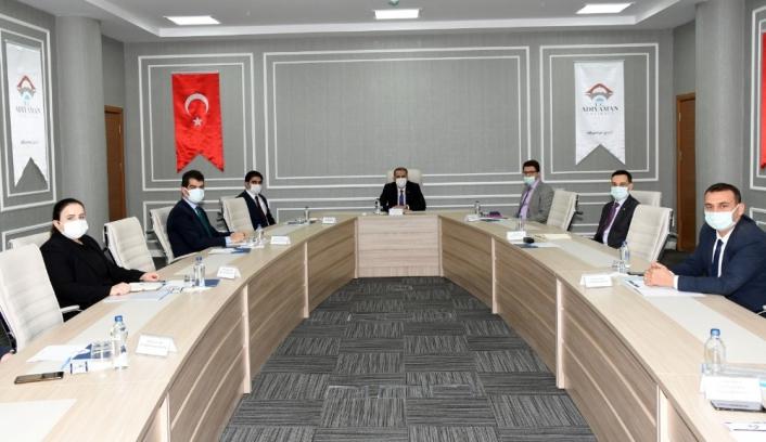 Kaymakamlar, Vali Mahmut Çuhadar Başkanlığında toplandı