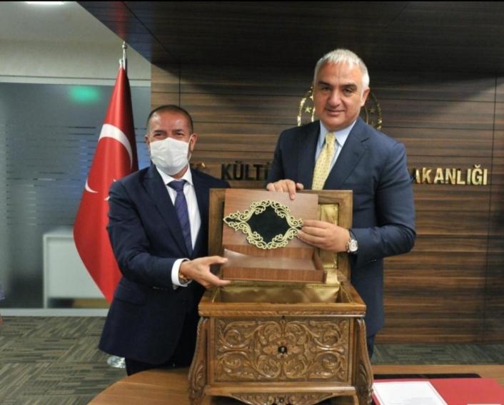 Kervancıoğlu´ndan Kültür ve Turizm Bakanına ziyaret