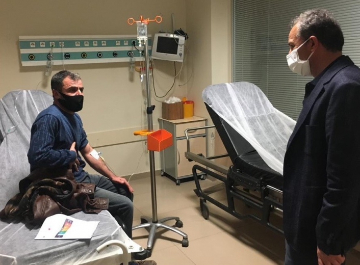 Kılınç´tan hastalara ve sağlık personeline moral ziyareti