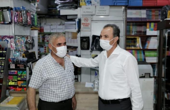 Kılınç, Turgut Reis Mahallesi esnafını ziyaret etti