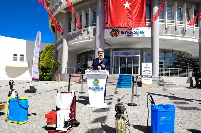 Malatya Büyükşehir, 2021 ilaçlama sezonunu başlattı