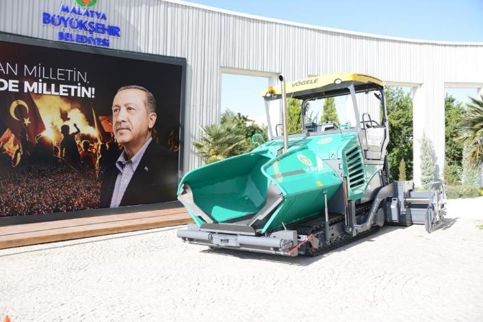 Malatya Büyükşehir araç parkına finişer takviyesi