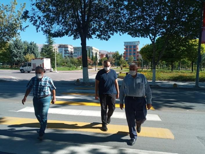 Malatya Büyükşehir´den yol çizgisine önem