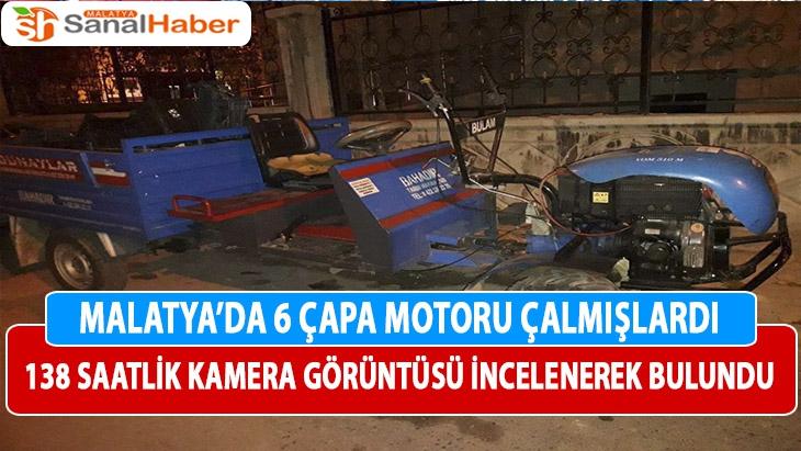 Malatya'da 6 çapa motoru çalmışlardı