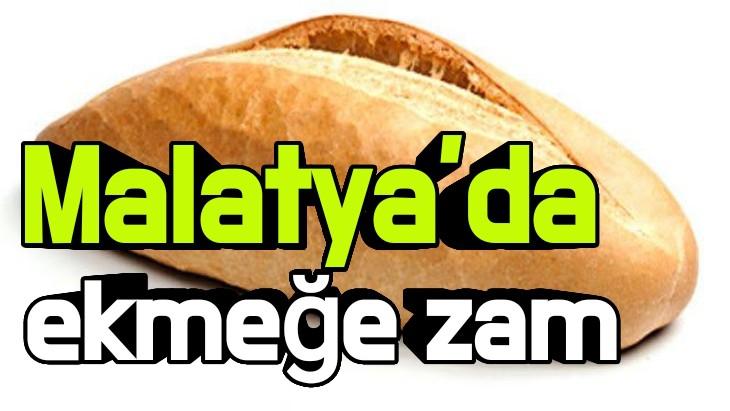 Malatya'da ekmeğe zam