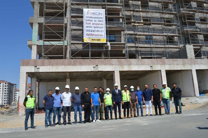 Malatya´da inşaat sektörü iş bırakma eylemi sona erdi