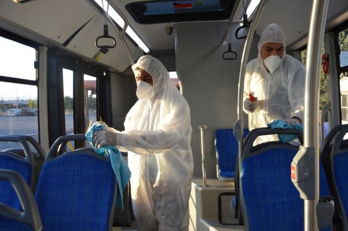 Malatya´da okullar açıldı dezenfekte çalışmaları yoğunlaştı