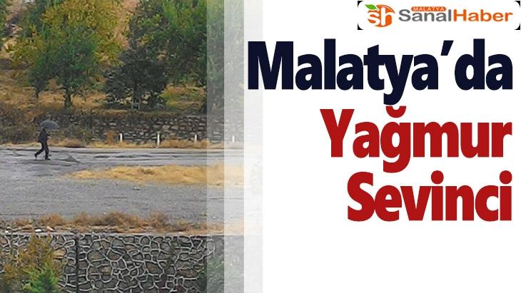 Malatya'da yağmur sevinci