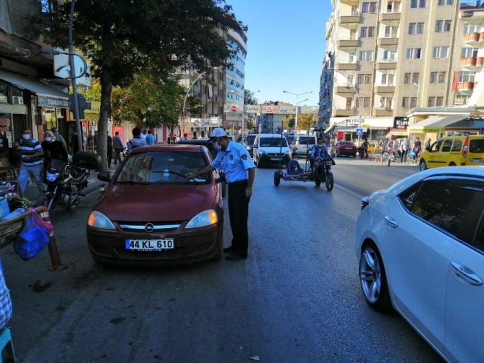 Malatya´da zabıta ekiplerinden trafik denetimi