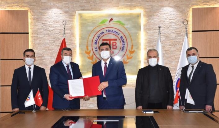 Malatya Ticaret Borsası ile Halk Bankası arasında işbirliği protokolü imzalandı
