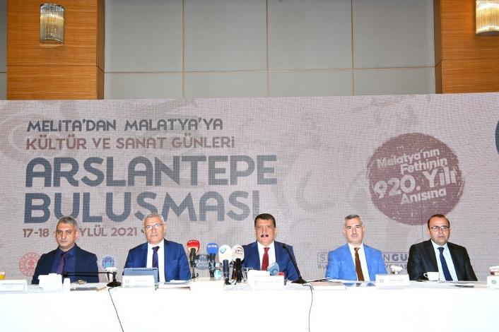 Melita´dan Malatya´ya Kültür ve Sanat Günleri Arslantepe buluşması için basın toplantısı gerçekleştirildi
