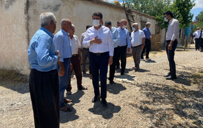 Milletvekili Tutdere, köy köy geziyor