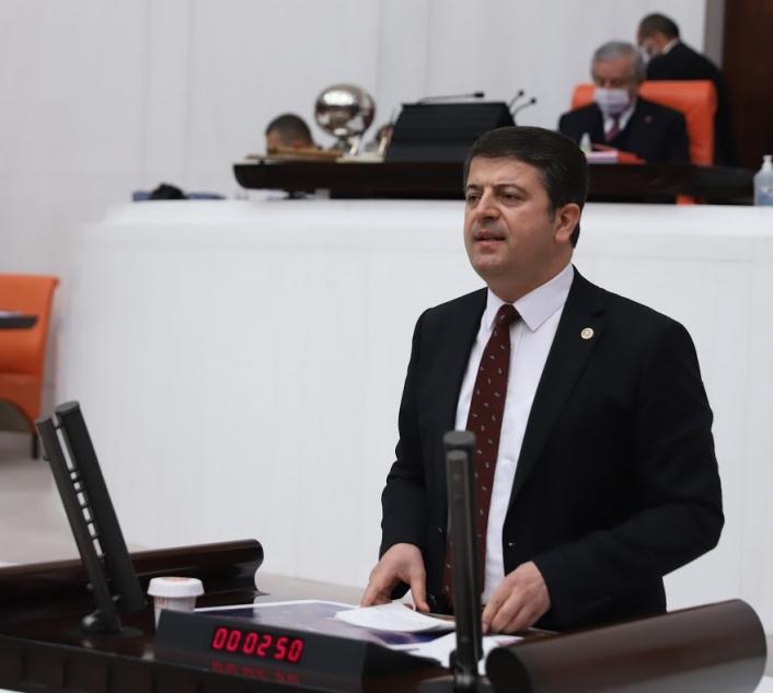 Milletvekili Tutdere, Kuşakkaya Göletini meclise taşıdı
