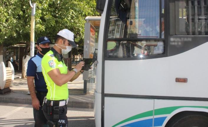 Minibüs ve otobüslerde korona denetimi