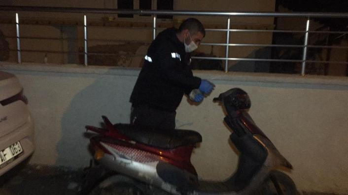 Motosikleti çalmak isteyen şüpheli yakalandı