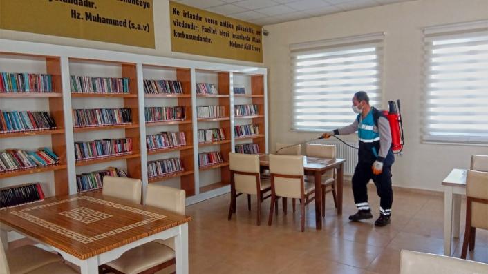 Müze ve kütüphaneler dezenfekte edildi