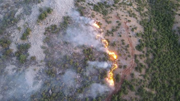 Orman yangınını söndürme çalışmaları çok sayıda ekiple sürüyor