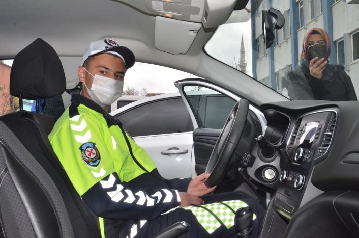 Polis olmak isteyen otizmli Yakup´un hayali gerçeğe dönüştü
