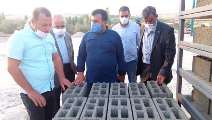 Pütürge´de kilit taşı üretim tesisi açıldı