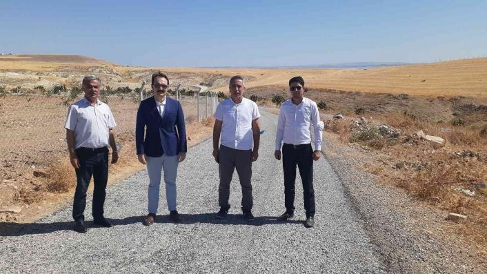 Samsat´ın Kızılöz köy yolu asfaltlandı