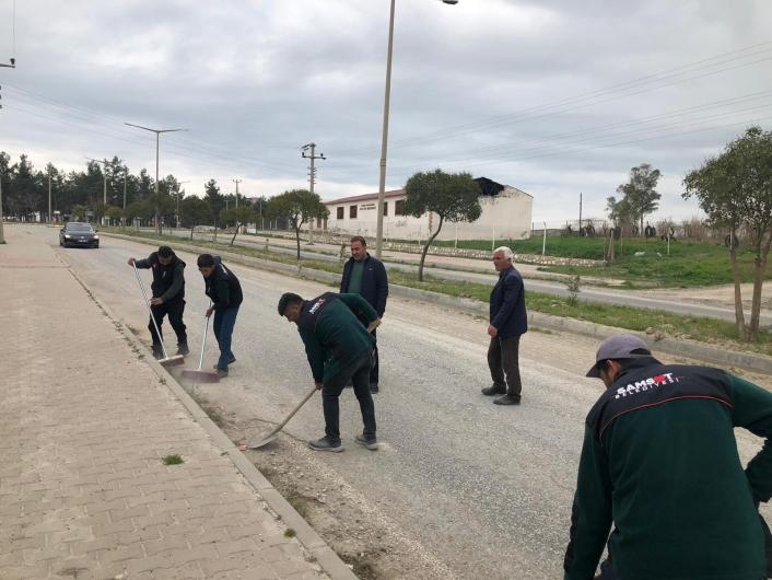 Samsat sokaklarında bahar temizliği
