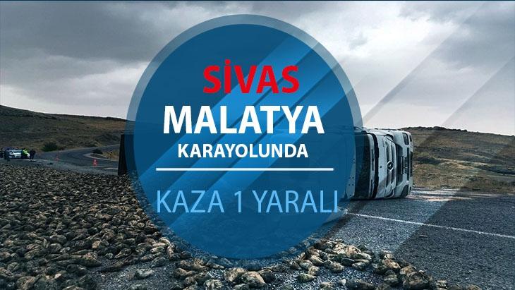 Sivas-Malatya karayolunda kaza