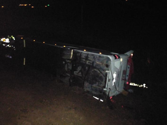 Sivas´ta otobüs kazası: Çok sayıda yaralı var