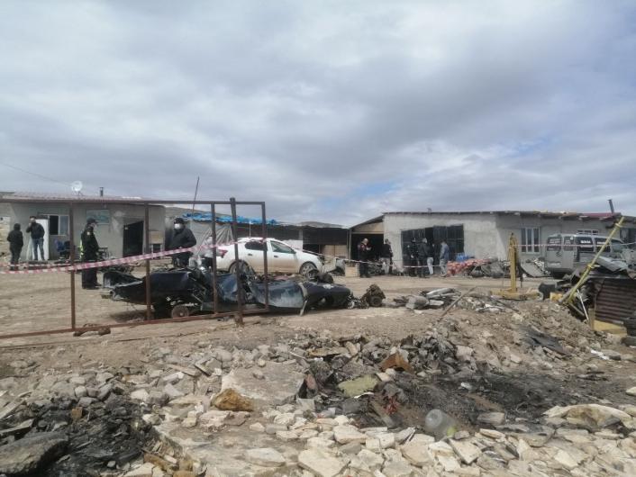 Sivas´ta patlayan tüp tankı 5 kişinin yaralanmasına neden oldu