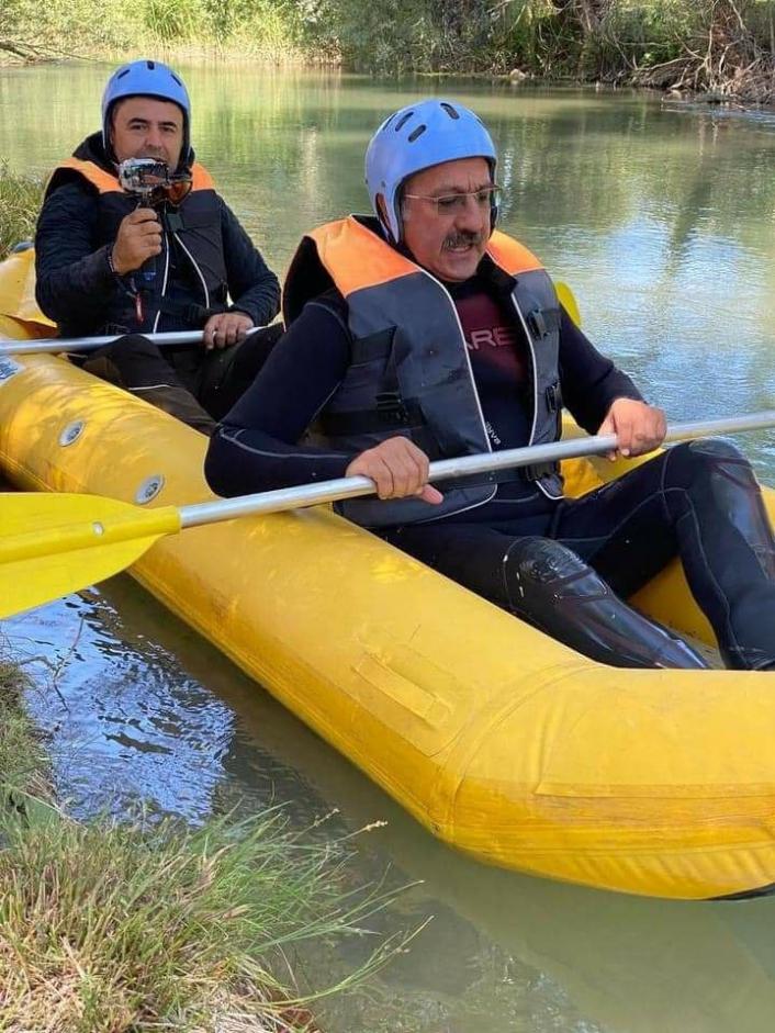 Sivas´ta rafting heyecanı