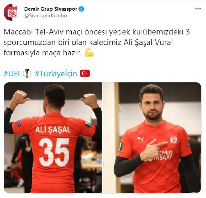 Sivasspor´da kaleci Ali Şaşal´a futbolcu forması yaptırıldı