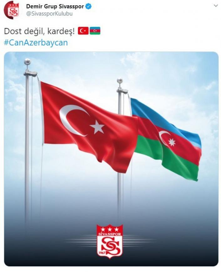 Sivasspor´dan Azerbaycan mesajı