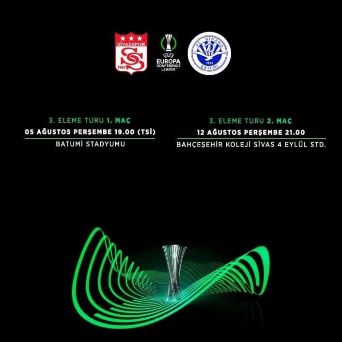 Sivasspor´un Batumi ile yapacağı maçların saati belli oldu