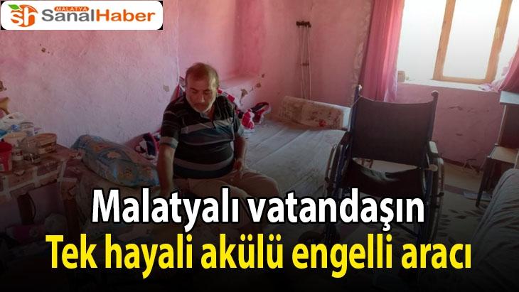 Tek hayali akülü engelli aracı