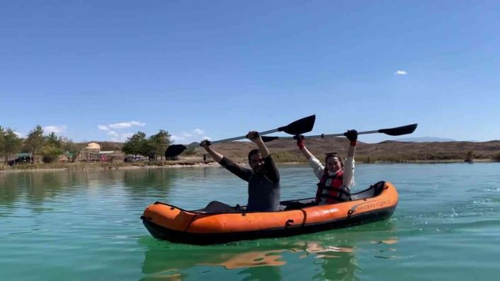 Tödürge gölünde kano heyecanı