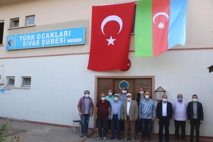 Türk ocakları Sivas Şubesi´nden Azerbaycan´a destek