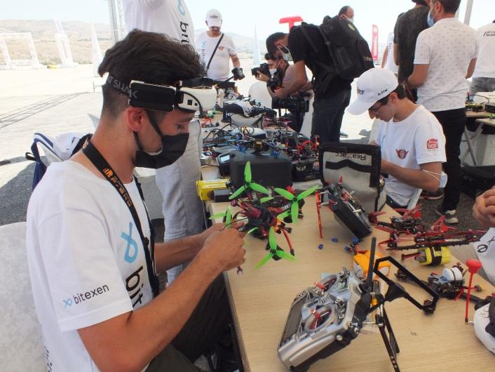 Türkiye Drone Şampiyonası finalinin ilk etabı Elazığ´da başladı