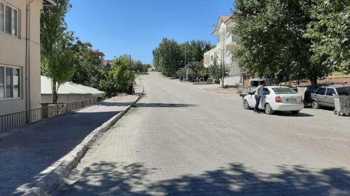 Tut ilçesinin giriş yolu yenilendi