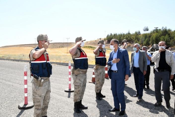 Vali Mahmut Çuhadar, uygulama noktalarını ziyaret etti