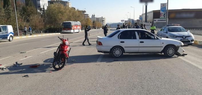 Yaşı küçük çocuğun kullandığı araç kazaya neden oldu: 1 yaralı