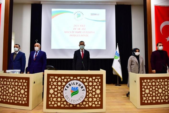 Yeşilyurt Belediye Meclisi, 2021´in ilk toplantısını yaptı