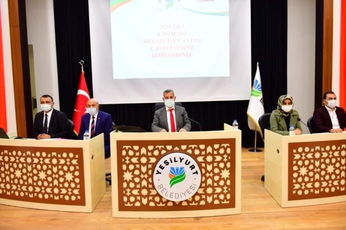 Yeşilyurt Belediye Meclisi, Kasım ayı çalışmalarına başladı