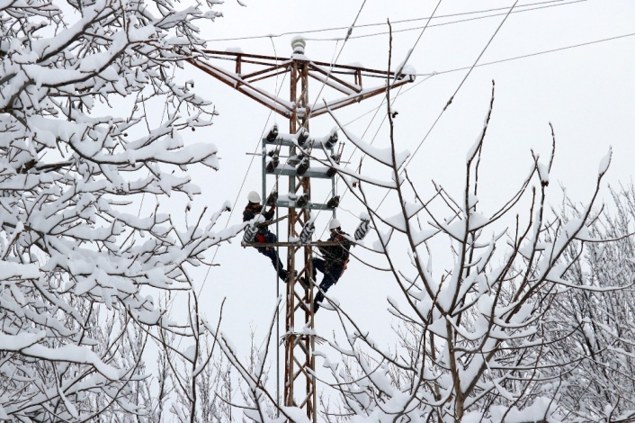 Yoğun kar yağışına karşı kriz merkezi oluşturuldu